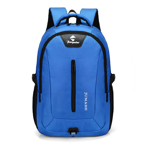 Causl Neutral Nylon Backpack Solid Color Men Travel Laptop Bag