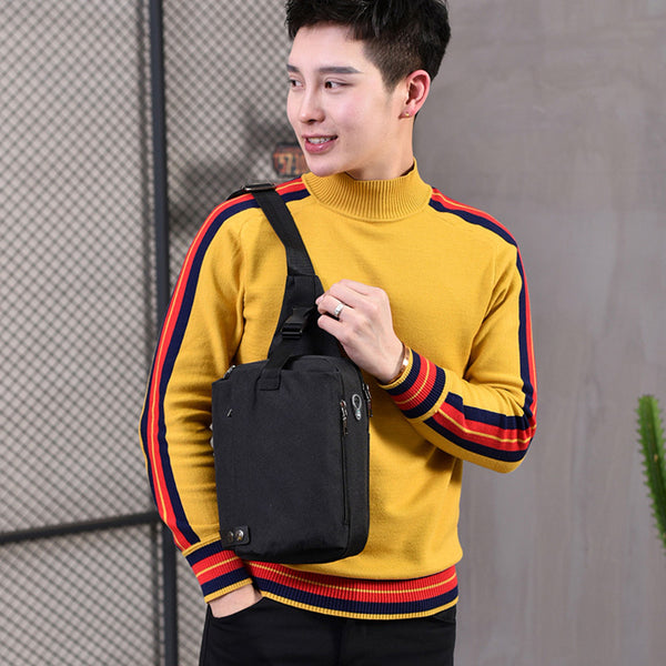 Men's Fashion Hiking Crossbody Bag Outdoor Multifunction Casual Chest Bag