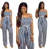 As Show Polyester Spandex Striped Casual Jumpsuits & Rompers
