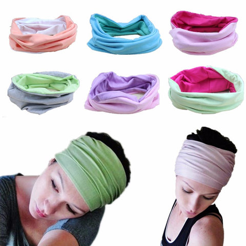 Candy Color Sports Yoga Cotton Cloth Fabric Hair Bands Headband Sweat Absorbing