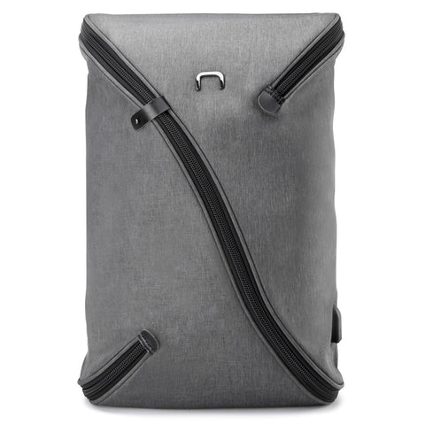 NIID UNO I Water Repellent Slim Laptop Backpack Grey with USB Charging Port