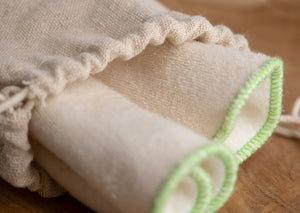 Hemp and cotton cleansing wipes
