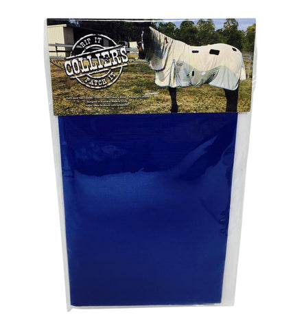 Horse Blanket Iron On Repair Mending Patches - Blue