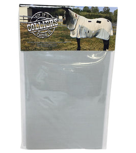Horse Blanket Iron On Repair Mending Patches - Grey