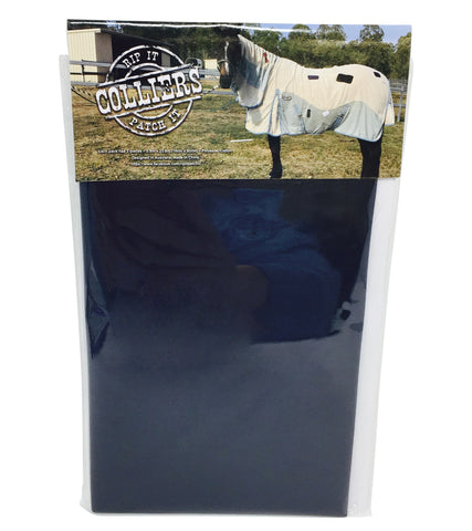 Horse Blanket Iron On Repair Mending Patches - Navy
