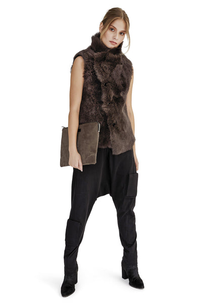Reversible Short Shearling Vest