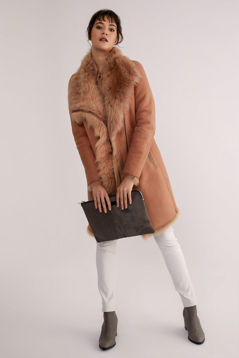 Shearling Coat with Asymmetrical Closure (4327966212234)