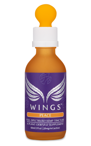 WINGS full-spectrum hemp tincture for anxiety or PTSD