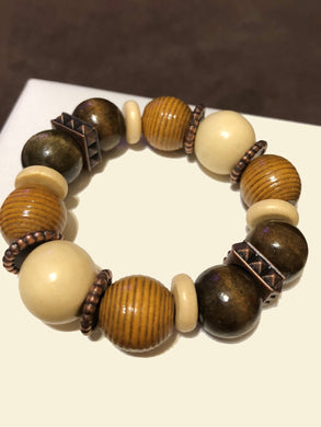 Wood Beads and metal accents