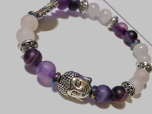 Buddha & Tree of Life with Amethyst Moon Stone and Rose Quartz