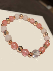 Watermelon and Rose Quartz