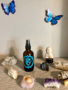 Throat Chakra (Vishuddha) Aura Spray
