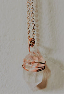 Beautiful Hand Made Wire Wrapped and Metal Dipped Necklaces