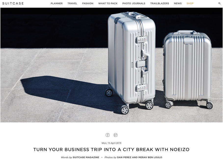 NOEIZO featured in SUITCASE Magazine