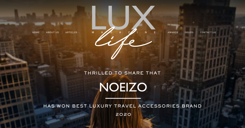 Awarded Luxury Travel Accessories Brand 2020