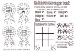Rosette Badge Activity Sheet