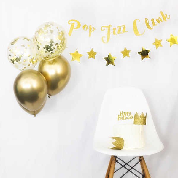gold party balloons