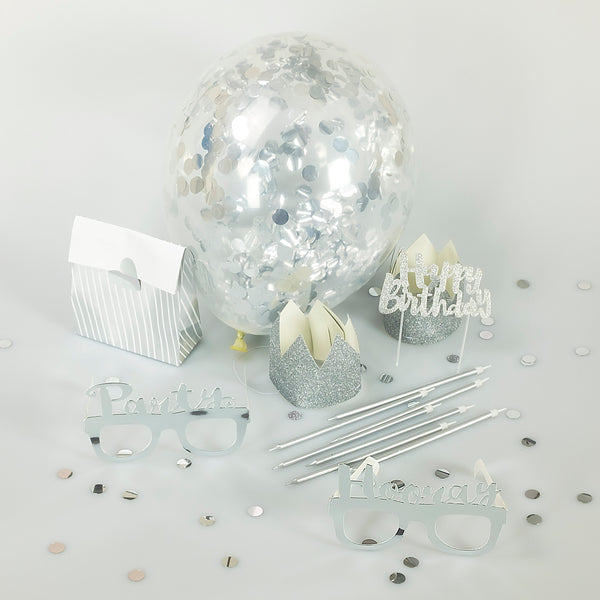silver party decoration candles