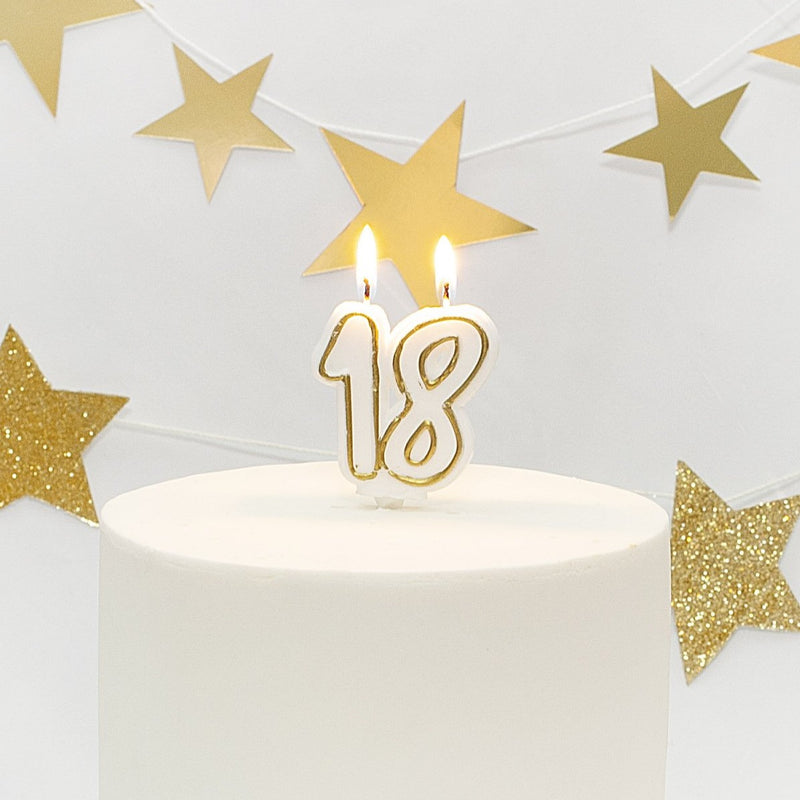 Age 18 Gold Milestone Candle