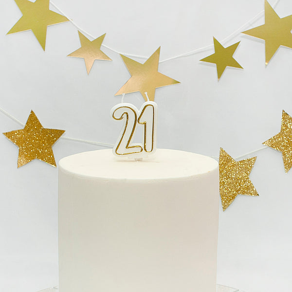 Age 21 Gold Milestone Candle