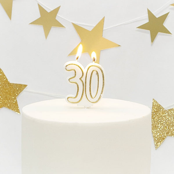 Age 30 Gold Milestone Candle