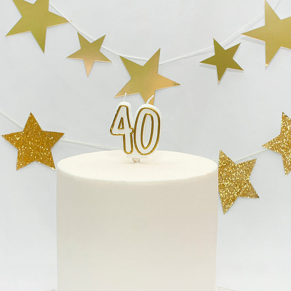 Age 40 Gold Milestone Candle