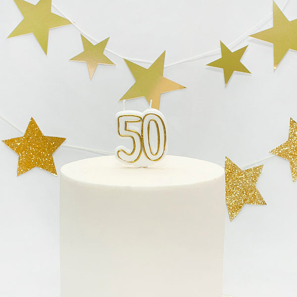 Age 50 Gold Milestone Candle