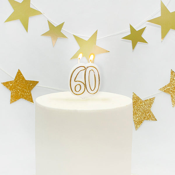 Age 60 Gold Milestone Candle