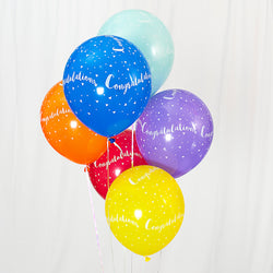 Congratulations 12-inch Balloons (6 Pack)