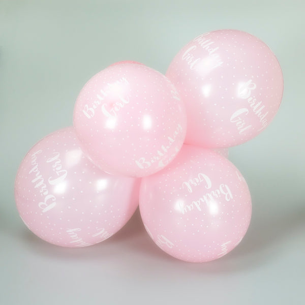 Birthday Girl 12-inch Balloons (6 Pack)