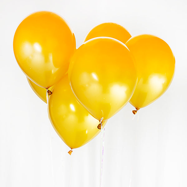 Metallic Gold 12-inch Balloons (6 Pack)