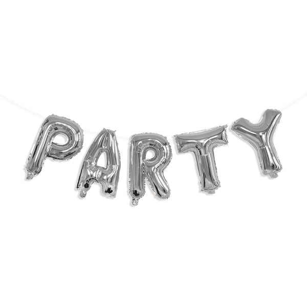 Party Silver Foil Inflated Letters