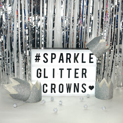 Silver Glitter Crown Party Hats