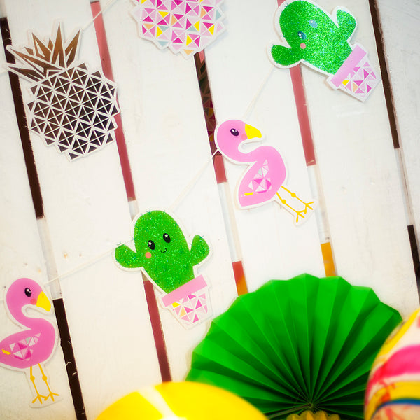 Make Your Own Cactus and Flamingo Garland Kit
