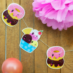 Make Your Own Ice Cream and Doughnut Garland Kit