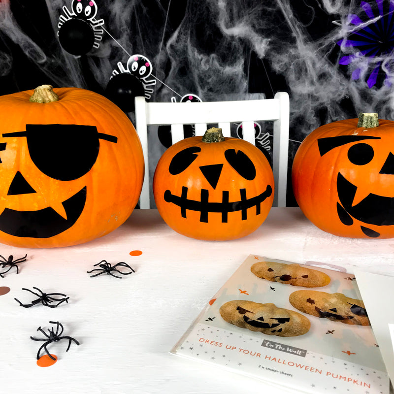 Halloween Pumpkin Face Sticker Pack