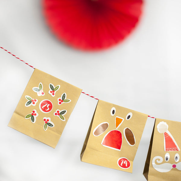 Christmas Advent Calendar Bunting Kit - 25 Days