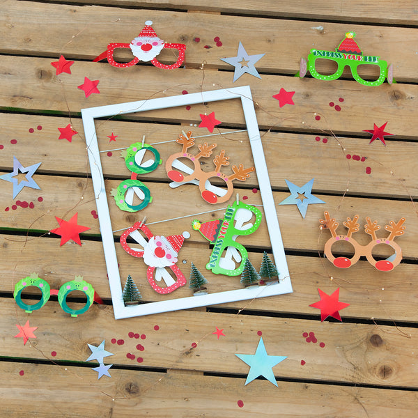Christmas Party Photo Prop Glasses (8 Pack)