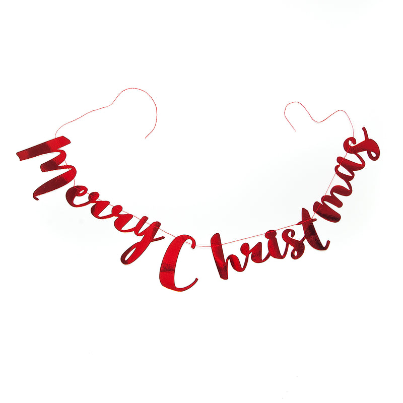 Merry Christmas Stitched Garland