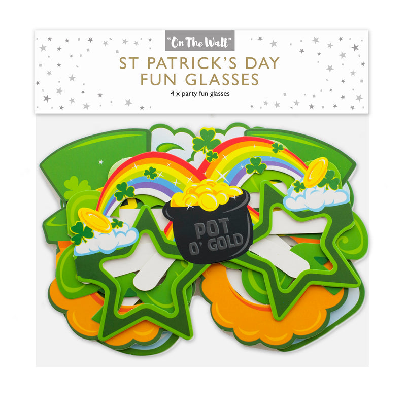 St Patrick's Day Photo Prop Glasses
