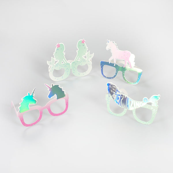 Foil Unicorn and Mermaid Fun Glasses