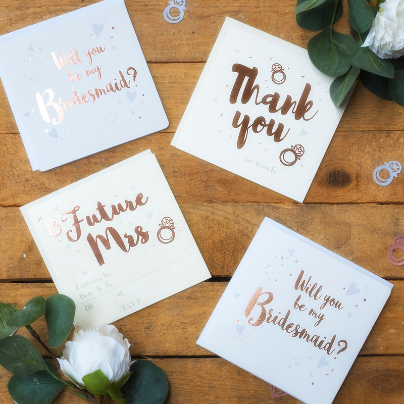 Rose Gold Hen Party Invitations & Thank You Notes