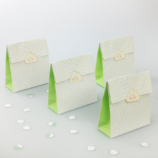 Pastel Hearts and Cloud Treat Bags - 8 Pack