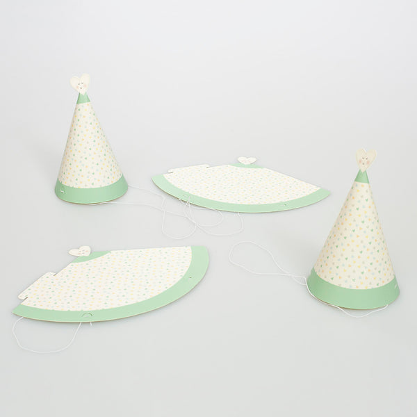 Pastel Heart Party Hats