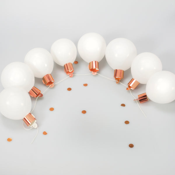 Rose Gold Light bulb Balloon Garland