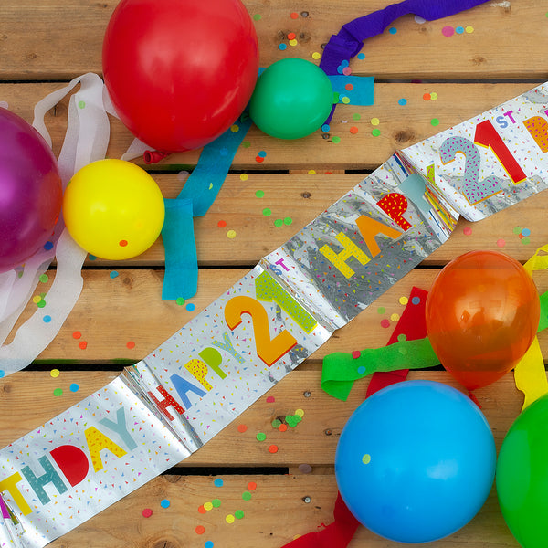 Happy 21st Birthday Foil Banner