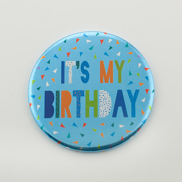 It's My Birthday Blue Foil Badge