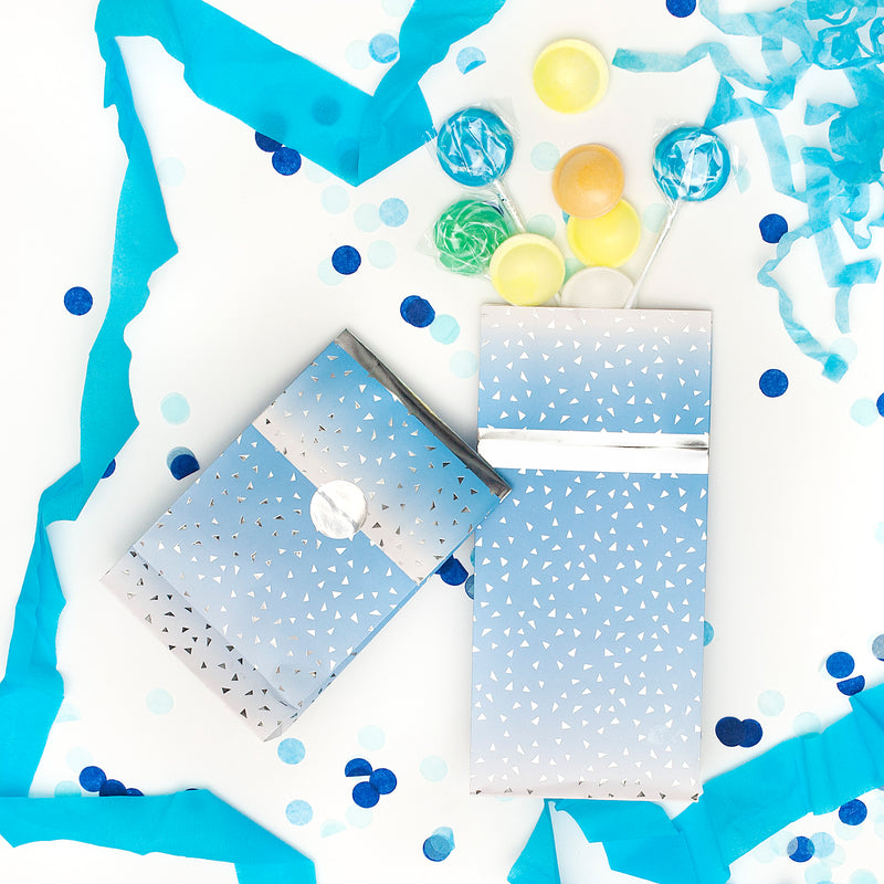 Blue Ombre Treat Bags - 8 Pack