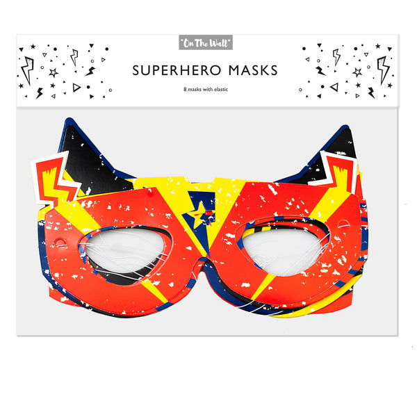Retro Comic Super Hero Masks