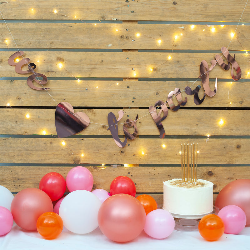 We Love to Party Stitched Garland